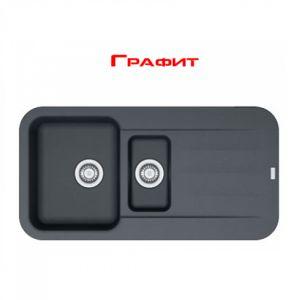 Гранитная мойка Franke PBG 651 внешний размер 970 мм х 500 мм (цвет - графит)
