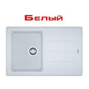 Кухонная мойка Franke Basis BFG 611-78 внешний размер 780 мм х 500 мм (цвет - белый)