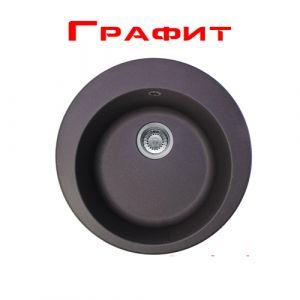 Гранитная мойка Franke ROG 610-41 диаметр 510 мм (цвет - графит)
