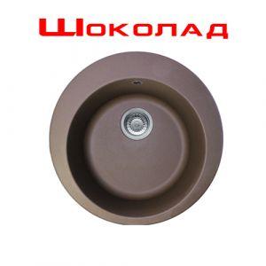 Гранитная мойка Franke ROG 610-41 диаметр 510 мм (цвет - шоколад)