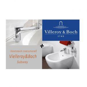 Комплект смесителей Vielleroy&Boch Subway для раковины и биде