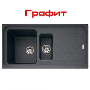 Кухонная мойка Franke Impact IMG 651 внешний размер 970 мм х 500 мм (цвет - графит)