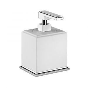 Дозатор жидкого мыла, настольный Gessi Eleganza accessories (цвет - хром/белый)