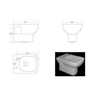 Инсталляция Geberit Duofix (4-в-1) комплект 458.121.21.1 с унитазом Devit Comfort 3120123 +  сиденье Slim (Soft Close )