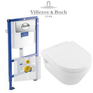 Инсталляция Villeroy & Boch ViConnect (4-в-1)  комплект с унитазом Villeroy & Boch Omnia Architectura 5684H101 + ( сиденье Soft Close)