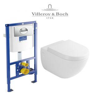 Инсталляция Villeroy & Boch ViConnect (4-в-1)  комплект с унитазом Villeroy & Boch Subway 66001001 + ( сиденье Soft Close)