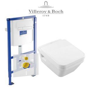 Инсталляция Villeroy & Boch ViConnect (4-в-1)  комплект с унитазом Villeroy & Boch Omnia Architectura 5685H101 + ( сиденье Soft Close)