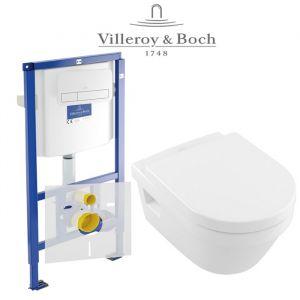 Инсталляция Villeroy & Boch ViConnect (4-в-1)  комплект с унитазом Villeroy & Boch Omnia Architectura Directflush 5684HR01 + (сиденье Soft Close)