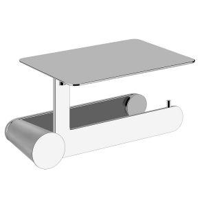 Настенный держатель для туалетной бумаги с крышкой Gessi Cono, хром 45449-031