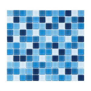 Мозаика Mozaico de LUX S-MOS HT B25B23B21B20B19B18 AZURO MIX 300 x 300 x 4 мм