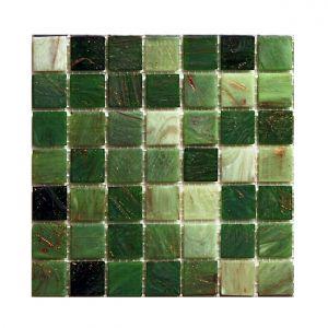Мозаика Mozaico de LUX R-MOS 20GN4041424344 GREEN MIX 327 x 327 x 4 мм