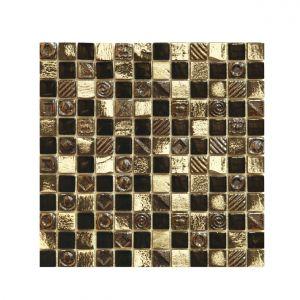 Мозаика Mozaico de LUX S-MOS HT948 ST+GL BLACK 300 × 300 × 8 мм
