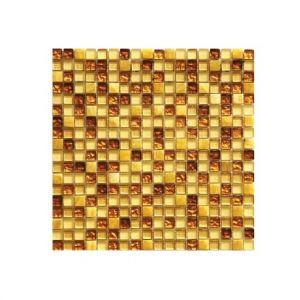 Мозаика Mozaico de LUX S-MOS HS0444 ST+GL YELLOW SPLASH 301 x 301 x 8 мм