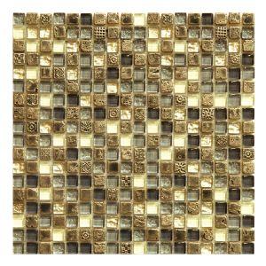 Мозаика Mozaico de LUX S-MOS HS0327 ST+GL GREY 301 × 301 × 8 мм
