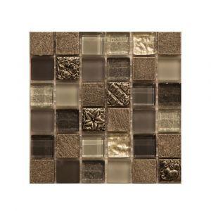 Мозаика Mozaico de LUX S-MOS HS0572 ST+GL GREY 300 × 300 × 8 мм