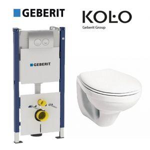 Инсталляция Geberit Duofix (4-в-1) комплект 458.161.21.1 с унитазом Kolo Idol M1310000 + (сиденье полипропилен)