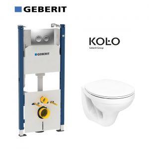 Инсталляция Geberit Duofix (4-в-1) комплект 458.161.21.1 с унитазом Kolo Idol M1310000U + сиденье полипропилен