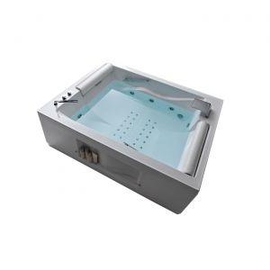 Ванна акриловая 190х150 см Gruppo Treesse Bis + сифон, ручки, подголовник
