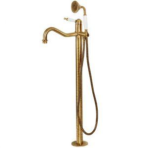 СмесительBugnatesse Oxford для ванны напольный бронза
