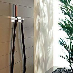 Душ Water Tube Kneipp с деревяной лейкой, черный