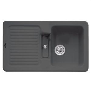 Керамическая кухонная мойка Villeroy & Boch Condor 860х510х190 мм (цвет graphite/графит)
