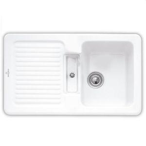 Керамическая кухонная мойка Villeroy & Boch Condor 860х510х190 мм (цвет snow white/белоснежный)