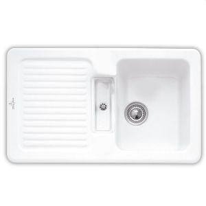 Керамическая кухонная мойка Villeroy & Boch Condor 860х510х190 мм (цвет white alpin/ белый альпин)