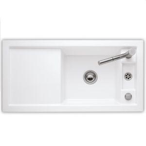 Керамическая кухонная мойка Villeroy & Boch Metric Art 1000х510х230 мм (цвет snow white/белоснежный)