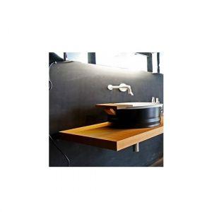 Раковина на столешницу Agape Vieques цвет черно/белый