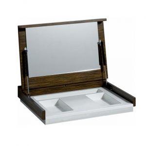 Косметический модуль-столешница Keramag Silk с зеркалом, венге пангар