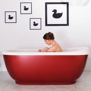 Ванна из каменной массы Xonyx™ Balteco Vero 164 х 74 см, red