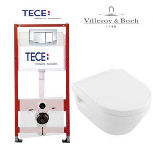 Инсталляция Tece (4-в-1) комплект 9400005 с унитазом Villeroy & Boch Omnia Architectura 5684H101 + ( сиденье Soft Close)