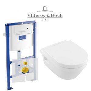 Инсталляция Villeroy & Boch ViConnect (4-в-1)  комплект  с унитазом Villeroy & Boch Omnia Architectura Directflush 5684HR01 + ( сиденье Soft Close)