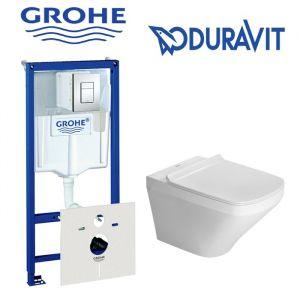 Инсталляция Grohe Rapid SL (4-в-1) комплект 38775001  с унитазом Duravit Durastyle 255109000 + (сиденье Soft Close)