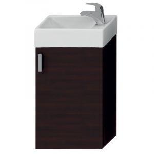 Комплект мебели в ванную комнату (тумба + раковина отв. для смесителя справа) Jika Petit, темный дуб