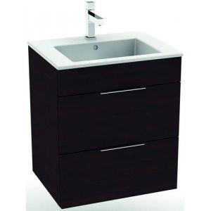 Комплект мебели для ванной 65 см (тумба, 2 выдижных ящика + раковина) Jika Cube темный дуб