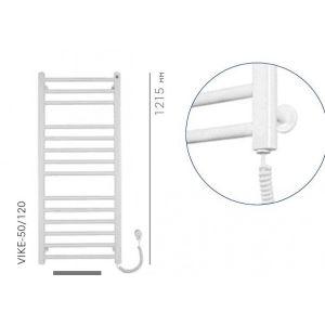 Электрический полотенцесушитель Instal projekt VIKING Electro безжидкостный, белый VIKE-50/120W 530X1200