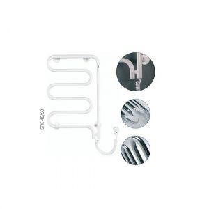 Электрический полотенцесушитель Instal projekt SPINA Eleсtro безжидкостный,  белый SPIE-60/60W 550X625