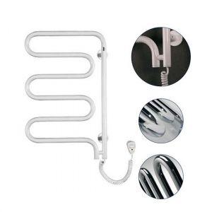Электрический полотенцесушитель Instal projekt SPINA Electro безжидкостный, поворотный, белый SPIE-60/60RW 550X625