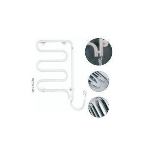 Электрический полотенцесушитель Instal projekt SPINA Electro безжидкостный,  белый SPIE-60/100W 550X1045