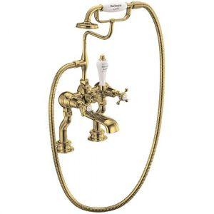 Смеситель на борт ванны Burlington Regent, с ручным душем, цвет золото