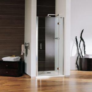 Одностворчатая распашная дверь Samo, 118-122х190см, профиль-хром, стекло-прозрачное