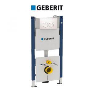 Инсталляция Geberit Duofix 458.115.11.1 (4-в-1) комплект (клавиша белая)