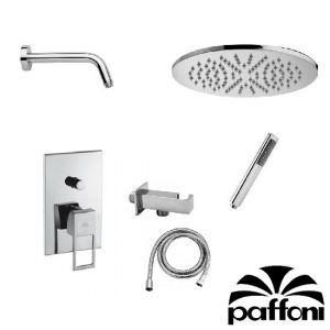 Набор встраиваемой душевойя системы Paffoni KITEF015CR3 (смеситель,  ручным душ,  лейка)  хром