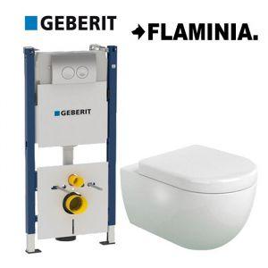 Инсталляция Geberit Duofix (4-в-1) комплект  458.161.21.1 с унитазом Flaminia APP  AP118 (сиденье Soft Close)