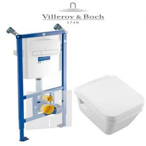 Инсталляция Villeroy & Boch ViConnect (4-в-1)  комплект с унитазом Villeroy & Boch Omnia Architectura 5685HR01 + (сиденье Soft Close)