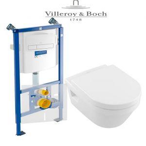 Инсталляция Villeroy & Boch ViConnect (4-в-1)  комплект с унитазом Villeroy & Boch Omnia Architectura 5684H101 + (сиденье Soft Close)
