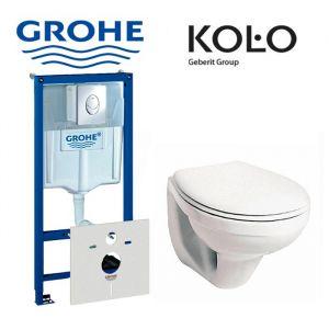 Инсталляция Grohe Rapid SL (4-в-1) комплект 38750001 с унитазом Kolo Idol M1310002U + (сиденье SoftClose)