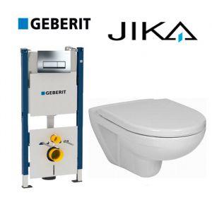 Инсталляция Geberit Duofix (4-в-1) комплект 458.178.21.1 с унитазом Jika Lyra H8233800000001 + ( сиденье Soft Close)