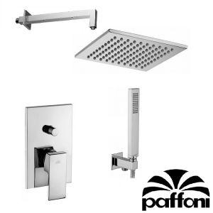 Набор встраиваемой душевойя системы Paffoni KITEL015CR1 (смеситель,  ручным душ,  лейка)  хром